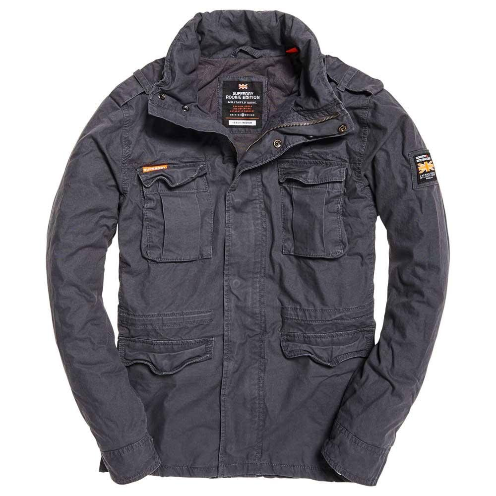Superdry Gris Mediano Carbon Summer Jacket Hombre Tamaño Yw6rY