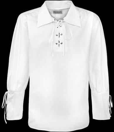 Mittelalterliches Geschnürt Für Shirt Weiß Gothic Männer 1g1qPw