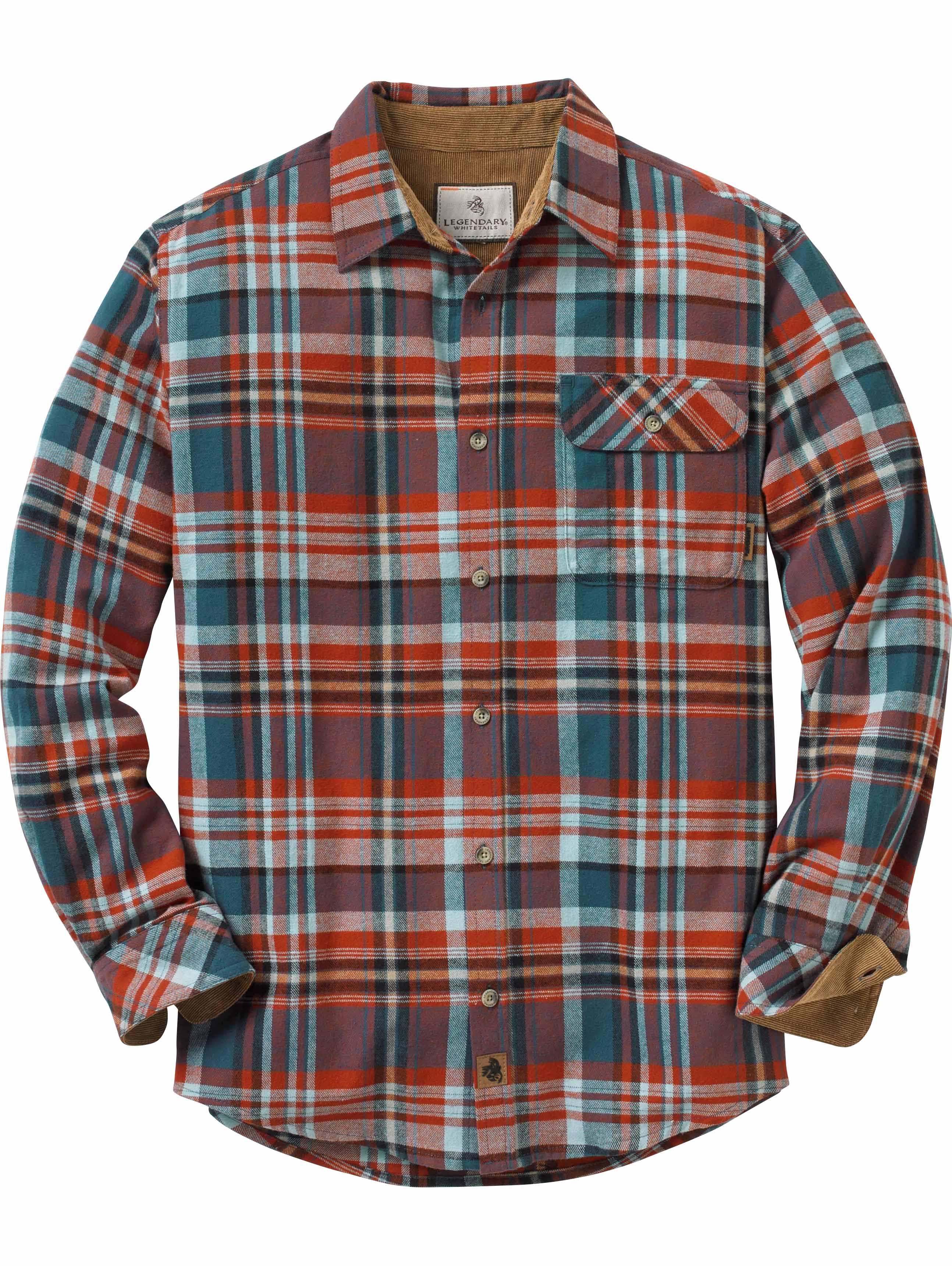 Gris Xxl Hombre Tamaño Legendary Camp Whitetails Flannels Plaid Buck 8nvRwCq