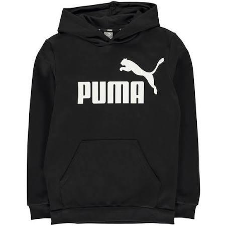 Junior Puma Hoodie Logo Negro Niños Core Uzz1wPq