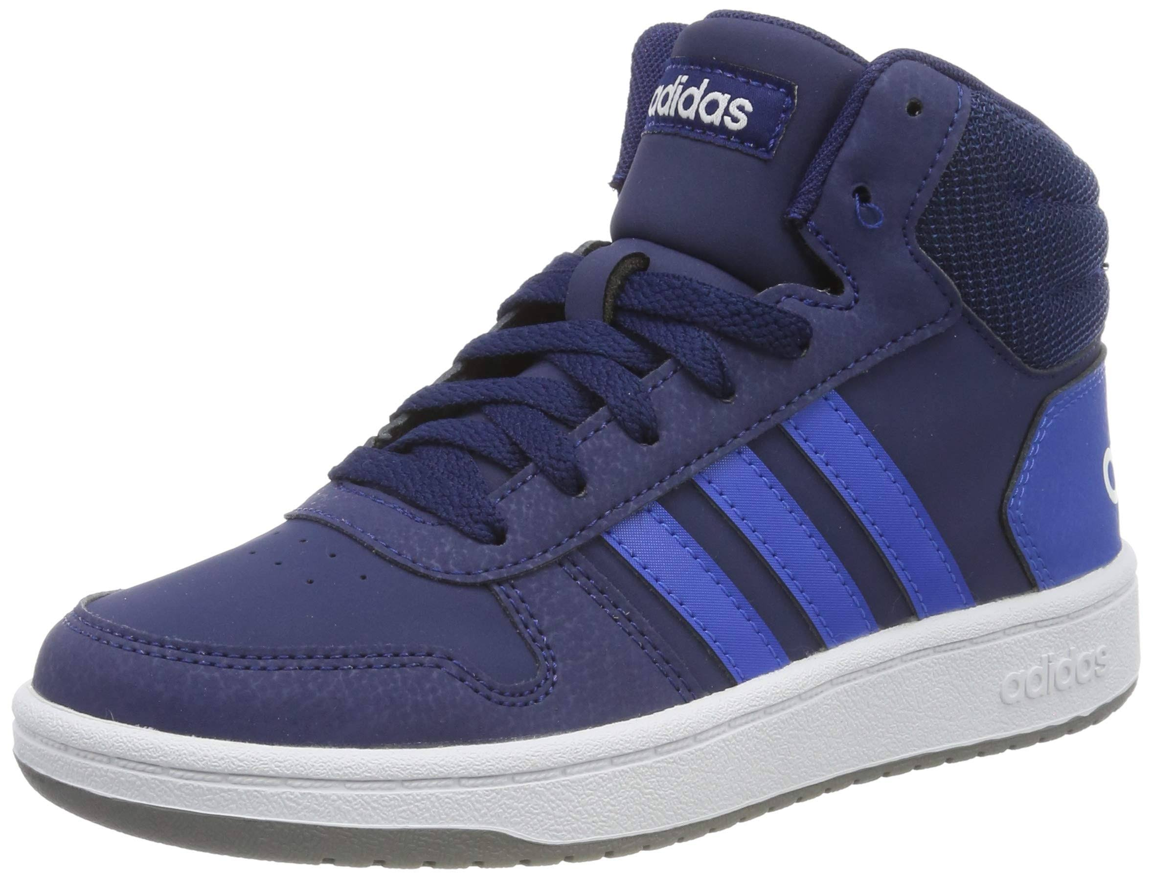 Adidas Hoops 2.0 Mid Shoes - Blue - Kids