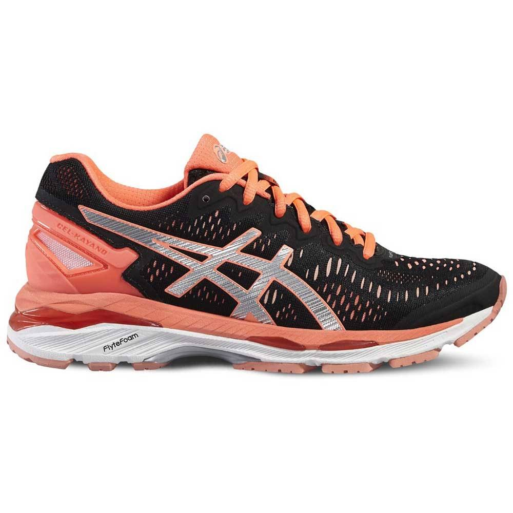 Kayano Gel Asics Black silver 23 flashcoral Donna 5Txwzq1