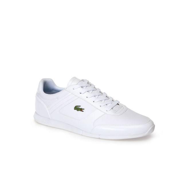 Weiß Synthetik Menerva Blau Sneaker Sport Lacoste wqH6xtYp
