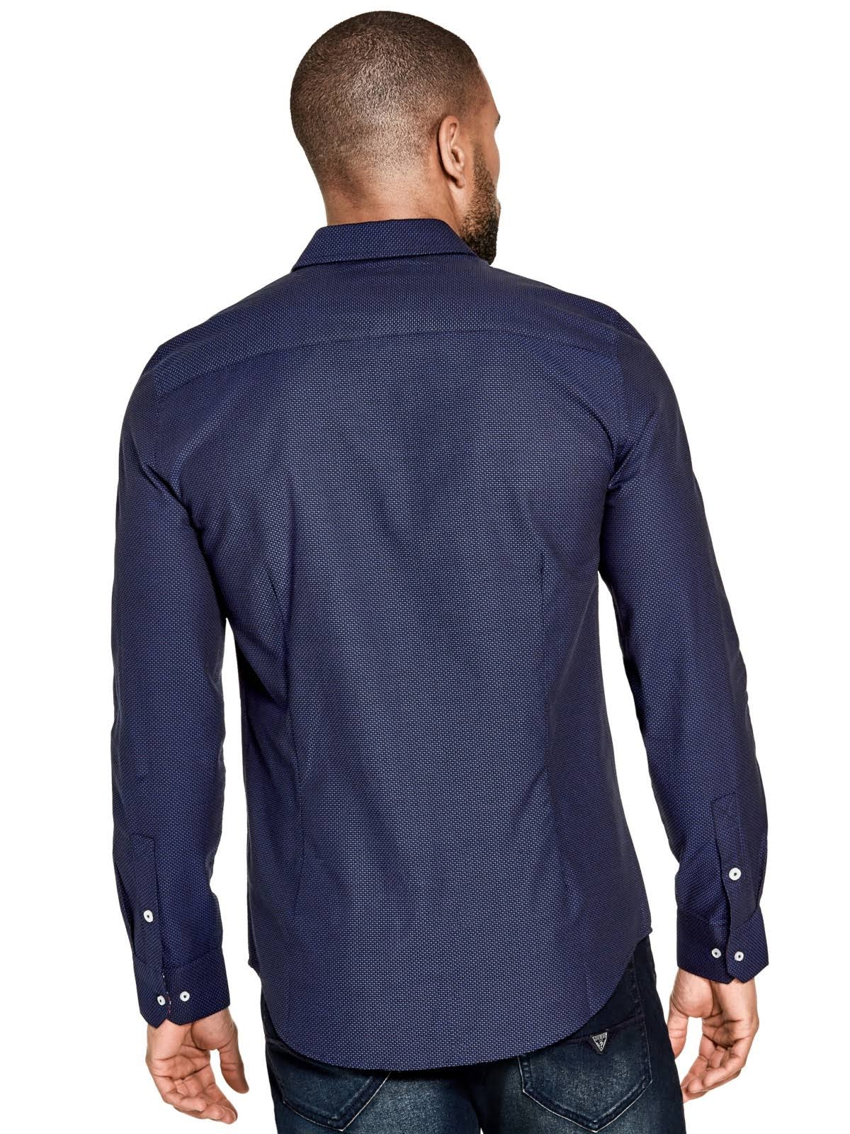 Nightfall En Botones Con Factory Camisa Delantera Guess Chapman Azul Parte La qZwavOxWU