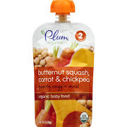 Plum Organics Baby Food, Butternut Squash, Carrot & Chickpea - 3.5 fl oz pouch
