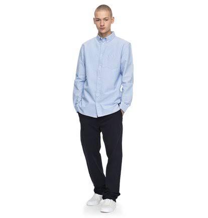 Größe Langarmhemd Classic Oxford Shoes Blau Herren S Dc zYwBqfACnn