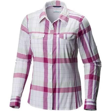 De Mujer A Manga Lite Para Violet Camisa Soft Silver Cuadros Columbia Larga Ridge Multi g6Hnxwz