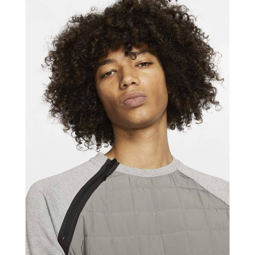 Nike Winter Crewneck Sweatshirt - Dark Grey Heather / Black - M - Men