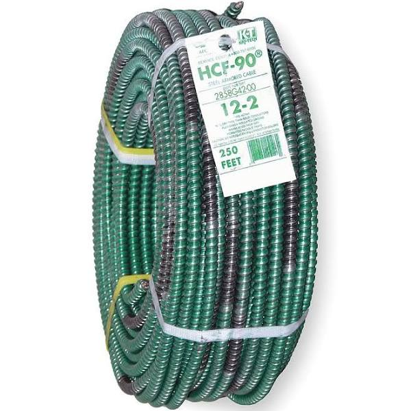 Southwire,20KZ62, Metal Clad Armored Cable, MC HCF, 12 AWG , 250 ft, M79136