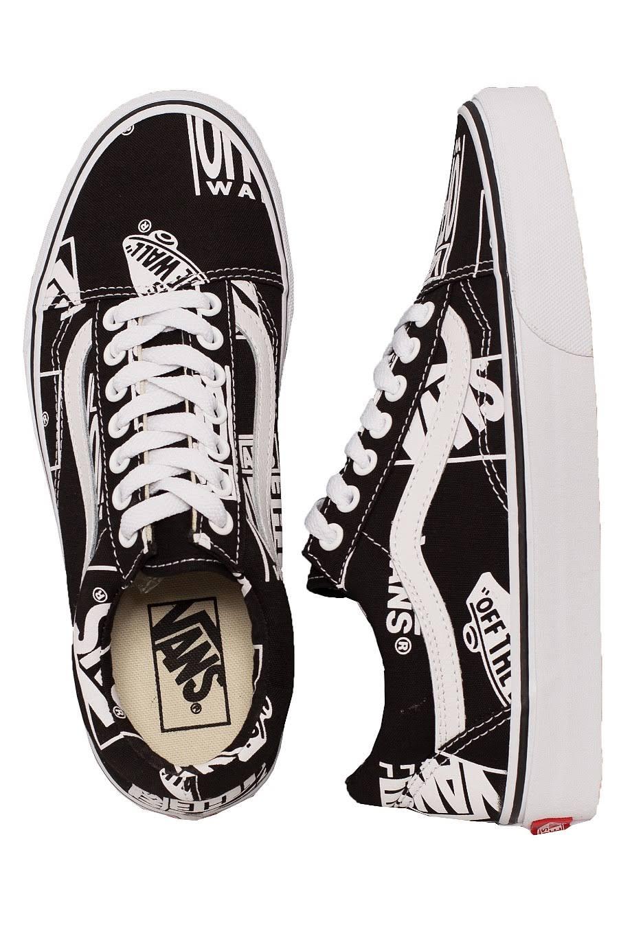 Skate Shoes Old Vans Mix Logo true White Skool Black 0w8xwdZ6