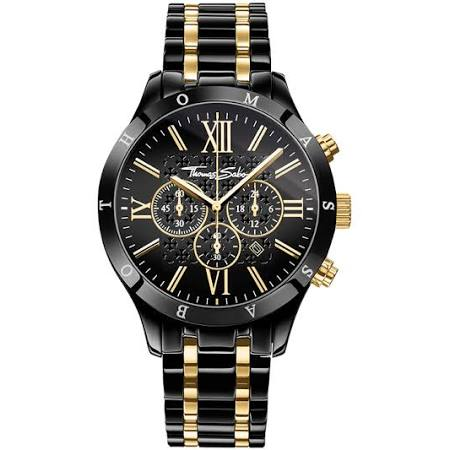THOMAS SABO Reloj para señor REBEL URBAN, acero fino, Talla: 43 MM, para hombre, WA0264-278-203-43 MM