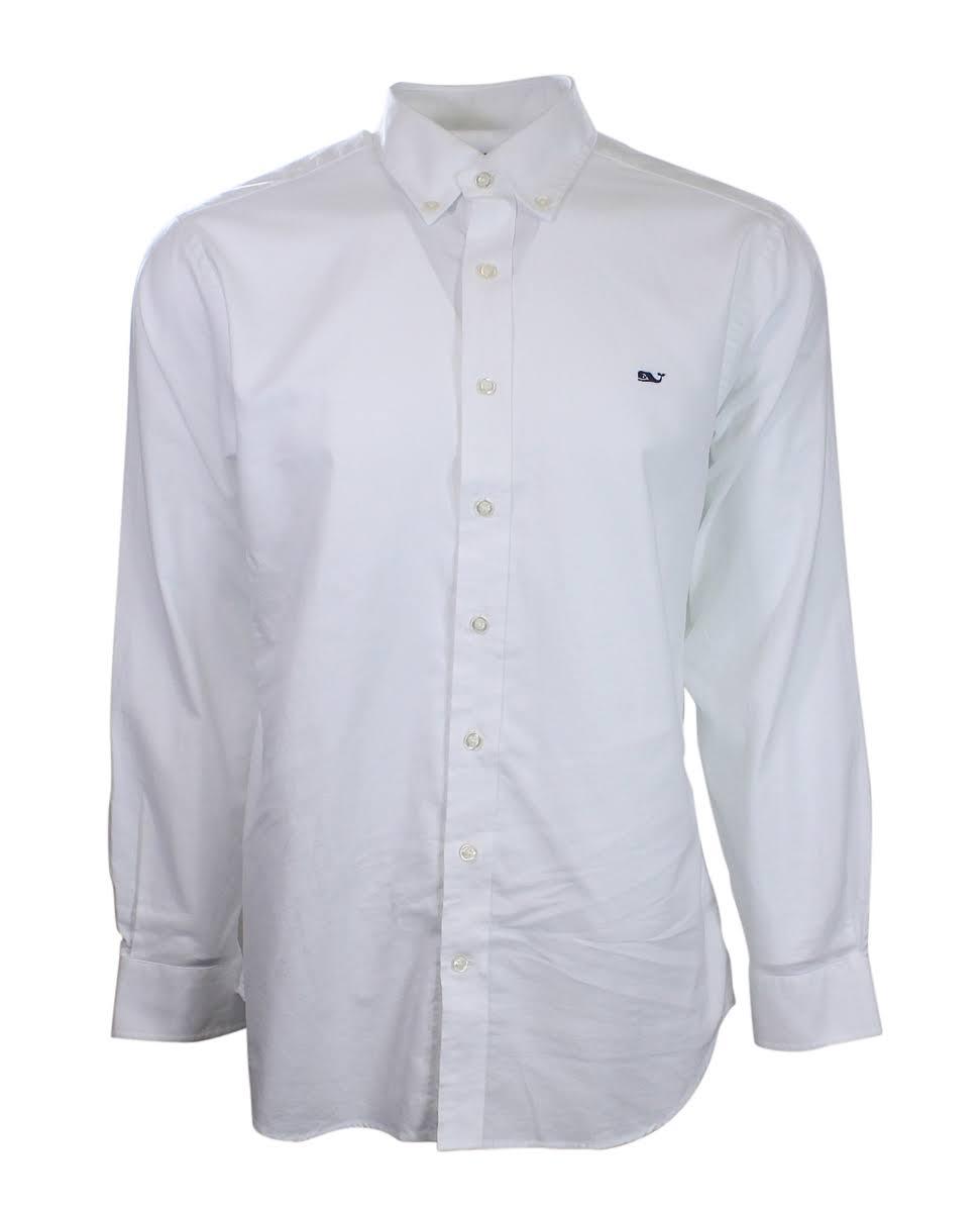 Fit Oxford Vineyard Shirt Slim Weißes Für Vines Herren Whale wqwgtPIFa