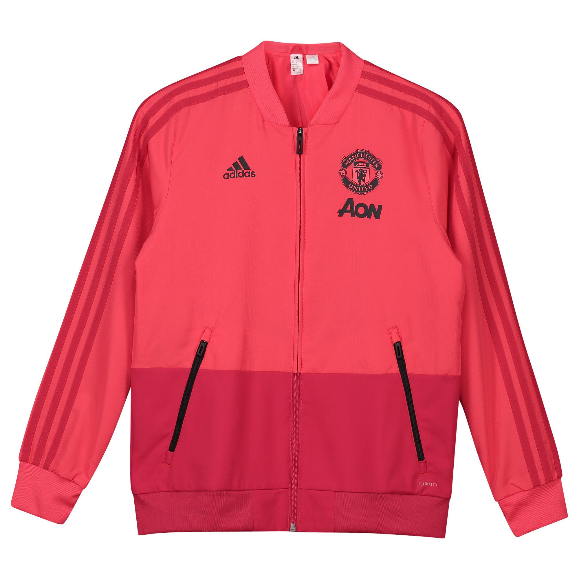 Adidas Manchester United Junior Presentation Jacket Colour: Pink, Size