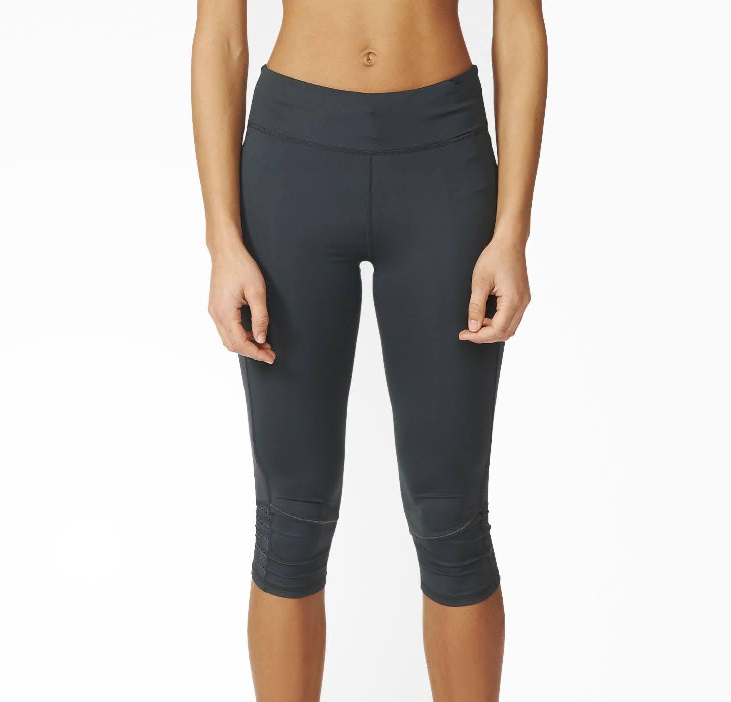 Adidas Supernova 3/4 Capri Womens Running Tights - Grey - Womens, Size XS