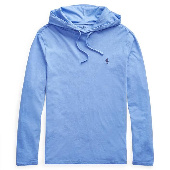 Lt Lauren shirt Herren Größe Solid Polo Hooded Ralph T Blau FfxPzqZwR