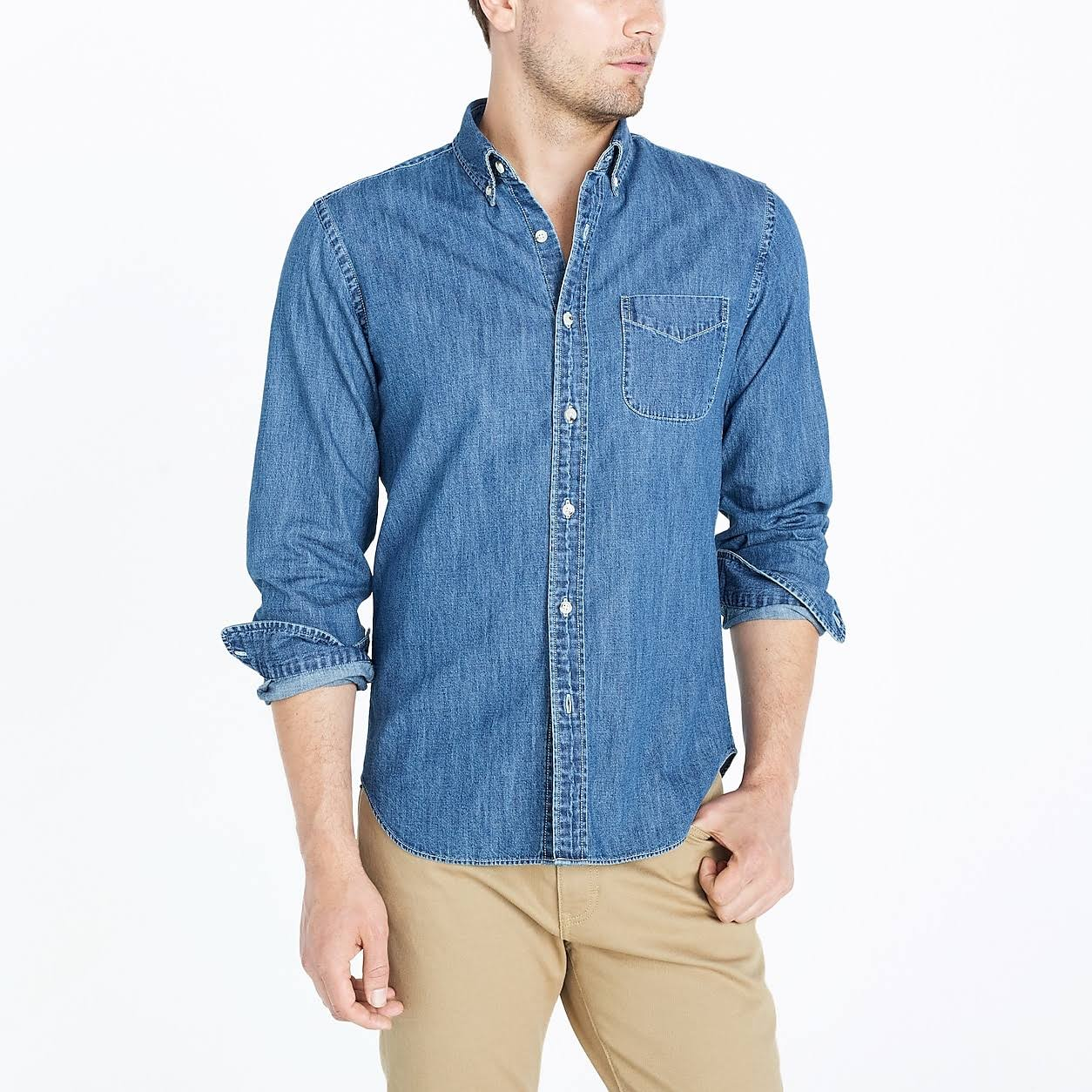Denim crew Indigo Wash Mens In J Factory Shirt CtHnqwqYxP