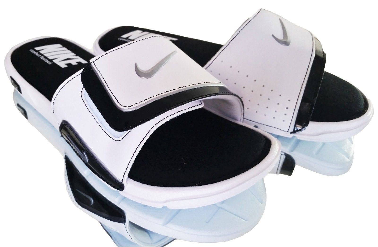 2 Nike White 100 Slide Comfort 415205 Sandals Solid Men's New Black dtcq4wx6xa