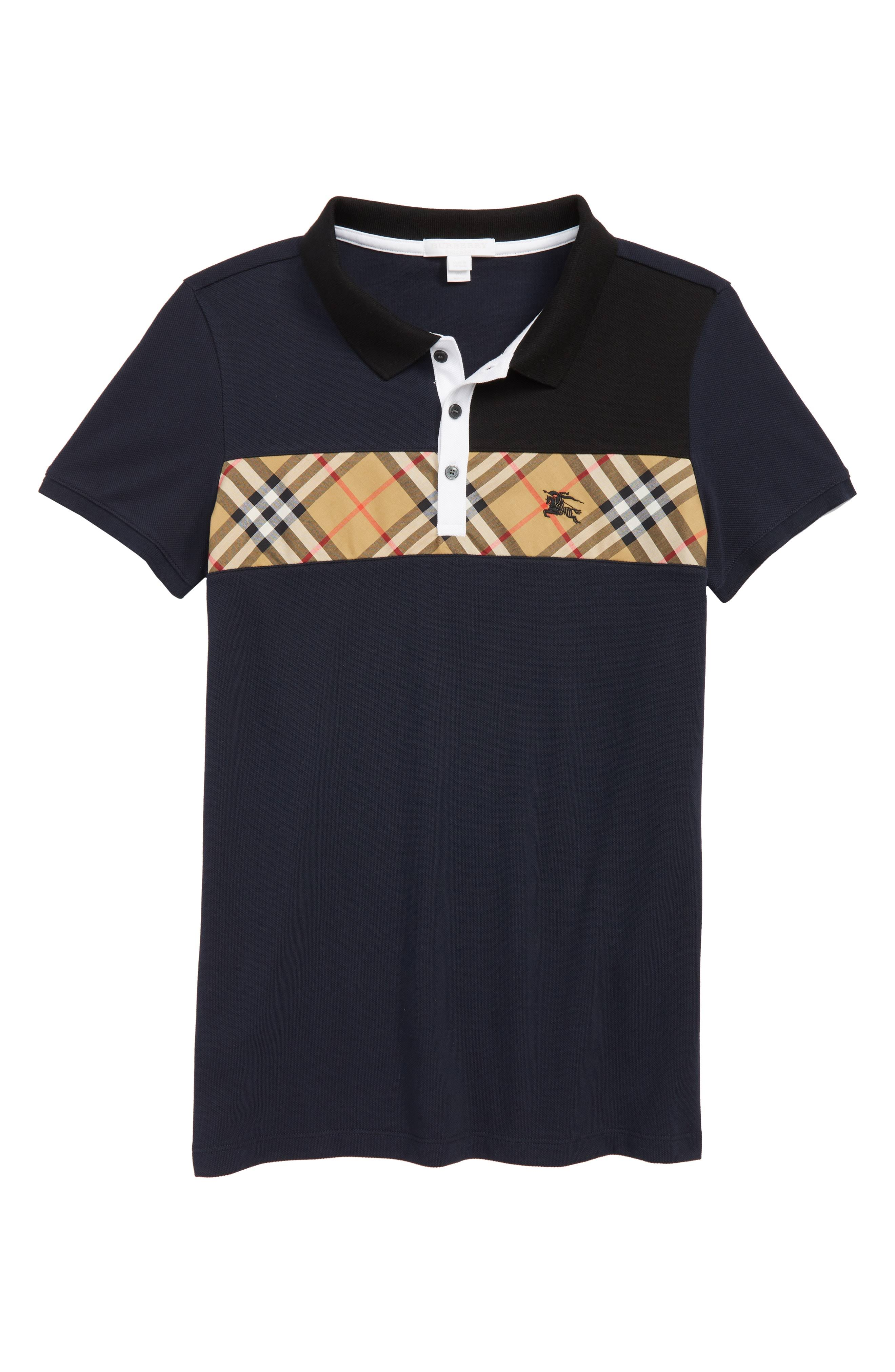 Navy Jeff Burberry Karo Antiker Polo 4wwqdt