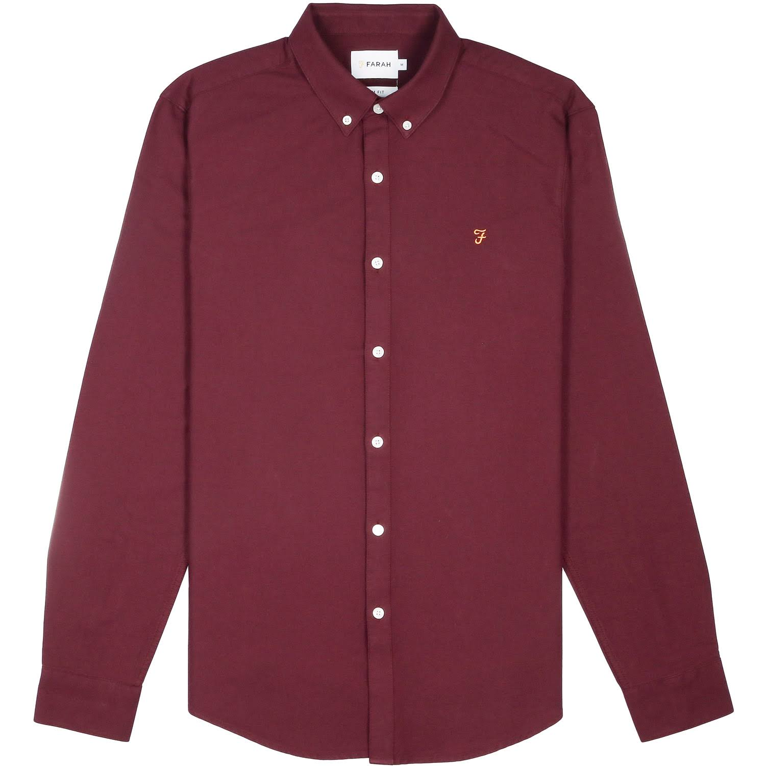 small X Slim Farah Fit Brewer Camiseta Bordeaux qxfFPXnw