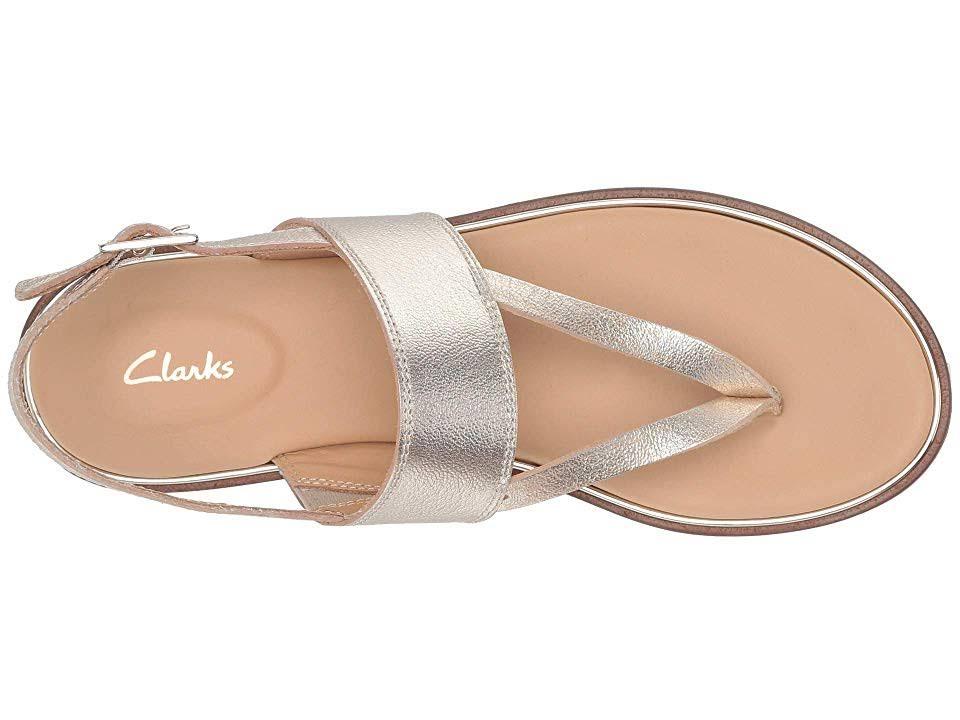 DonnaDimensioni8 Plus Ellis Donna Clarks Champagne Sandalo Opale Da 5Pelle YWEDH92I