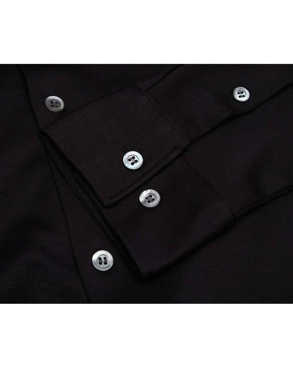 Business L Mit Armani Kragen Emporio Schwarz Hemd 8n1ch6 reguläres 1jprz RUnqw