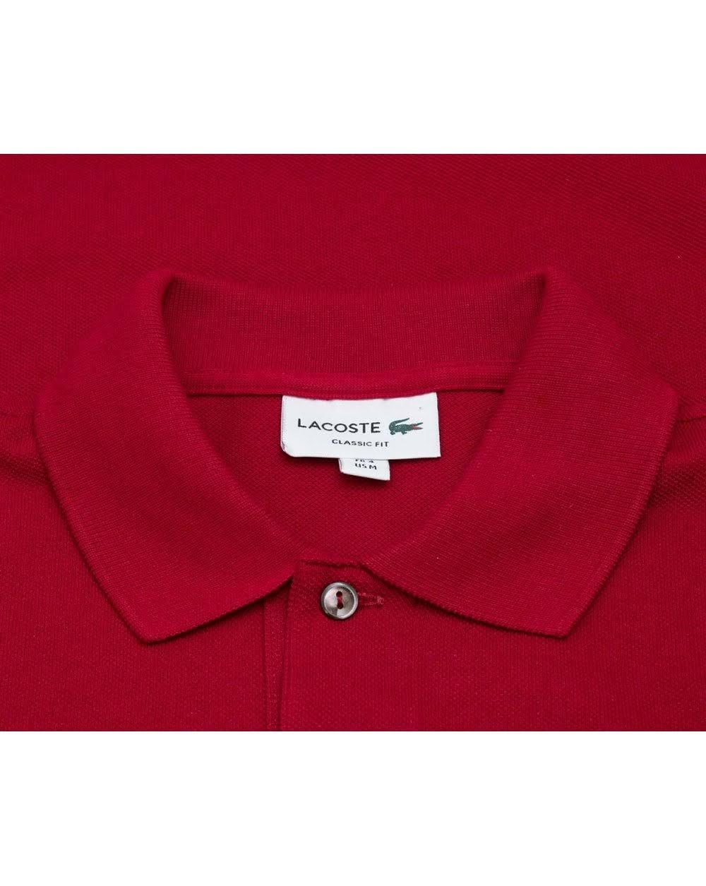 Fit Farbe Pique Lacoste Classic Xl Logo Größe Bordeaux Polo Bxw4WTZq