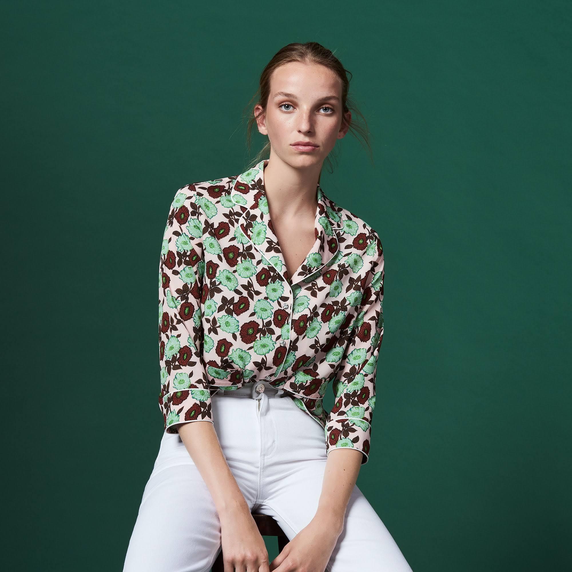 Camisa Con De Pétalo Estampado Floral Sandro Crepé vPv7rwx