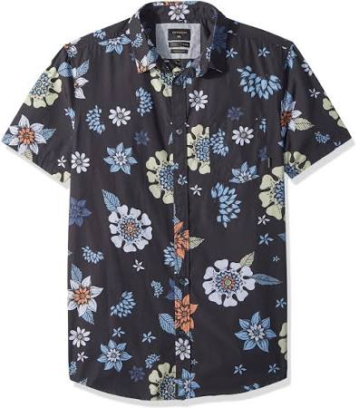 Manga Corta Floral Quiksilver Negro Hombre Para Sunset De Camiseta UxIAw1qZ