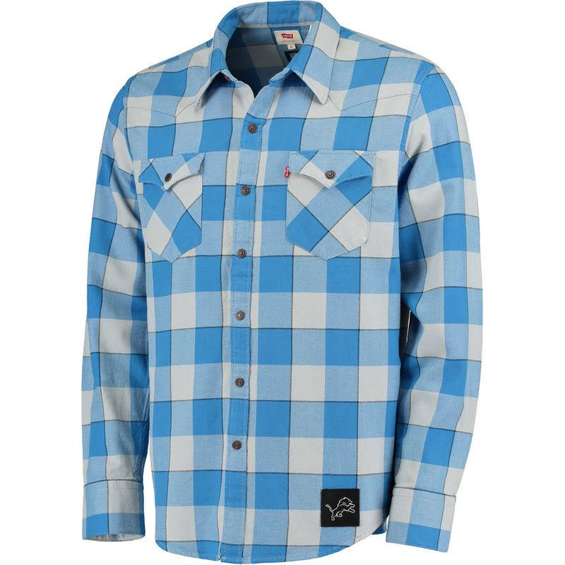Nfl Camisa Hombre Levi's Xl Vaquera Western A Lions De Cuadros Para Detroit a7wtZOn7