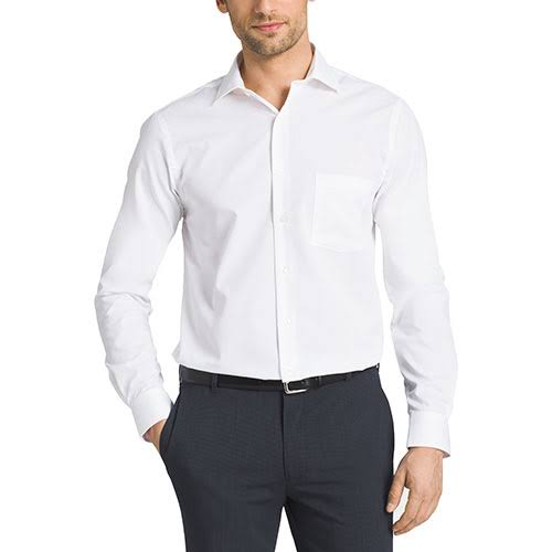 Businesshemd Heusen Solid Fit Herren Regular Van Flex SZEqRpp