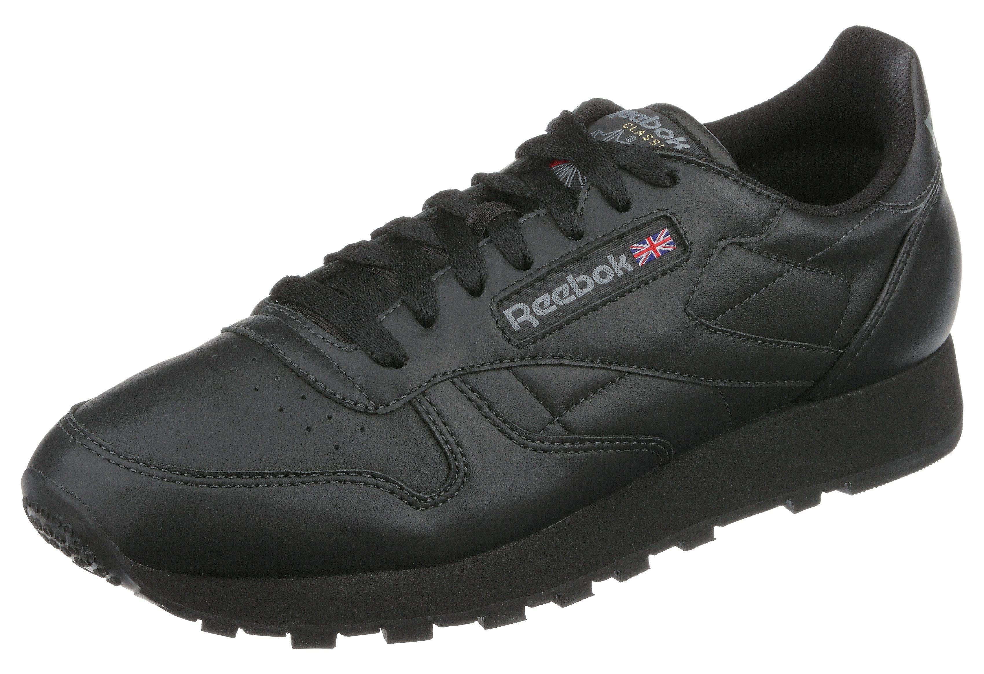 Größe Reebok Leather 5 black Schwarz Eur int 40 Herrensneaker Classic Us 7 f6B6OIn