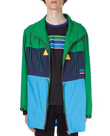 Verde Colorblock large Kenzo Cotton X Hombres Parka 4tHWq