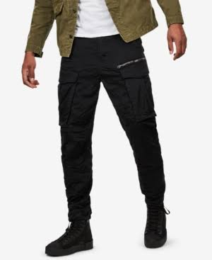 Zip Hombre Negro Pants Rovic G star Tapered Raw H0qxvw4nI