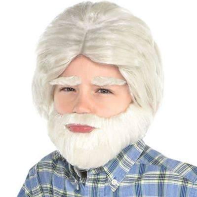 Del El Facial Halloween Escuela La Cabello Día 100 De o Para 3 Disfraz Abuelo Piezas Set qEOIYwP