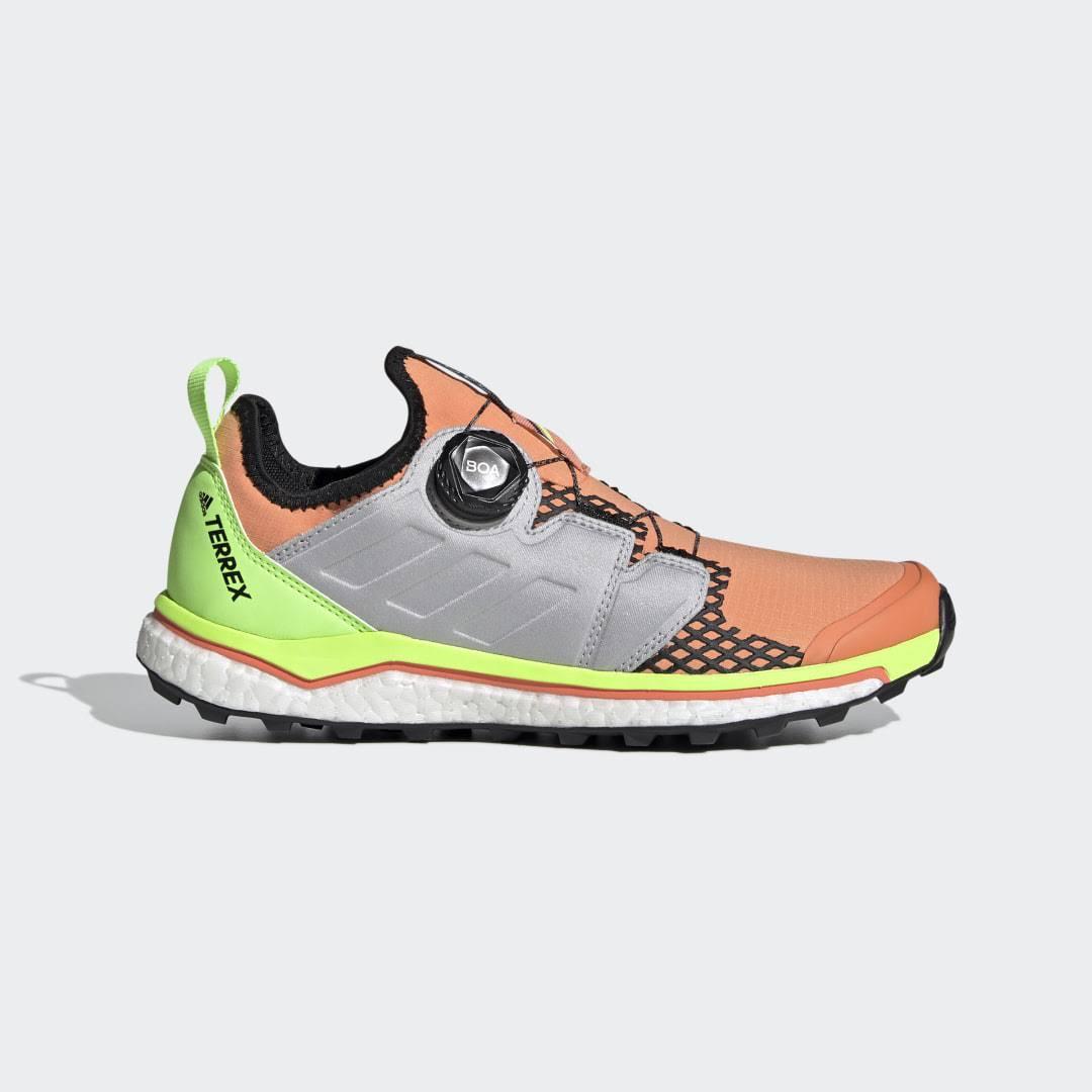 Adidas Terrex Agravic Boa Women's Trail Running Shoes - Orange - 5