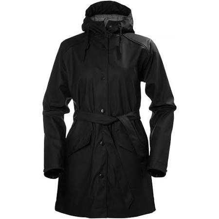 Helly Coat M Kirkwall Negro W Negro Rain Tamaño Hansen Mujer Color zIqIZrn