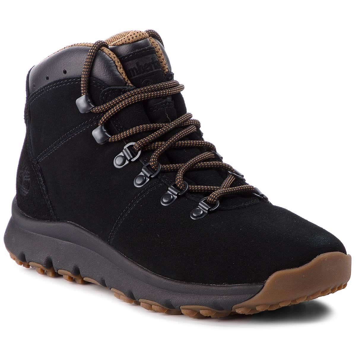 Czarny Timberland Tb0a1qfl0151 Black Hiker World Mid Męskie qHw4vIH