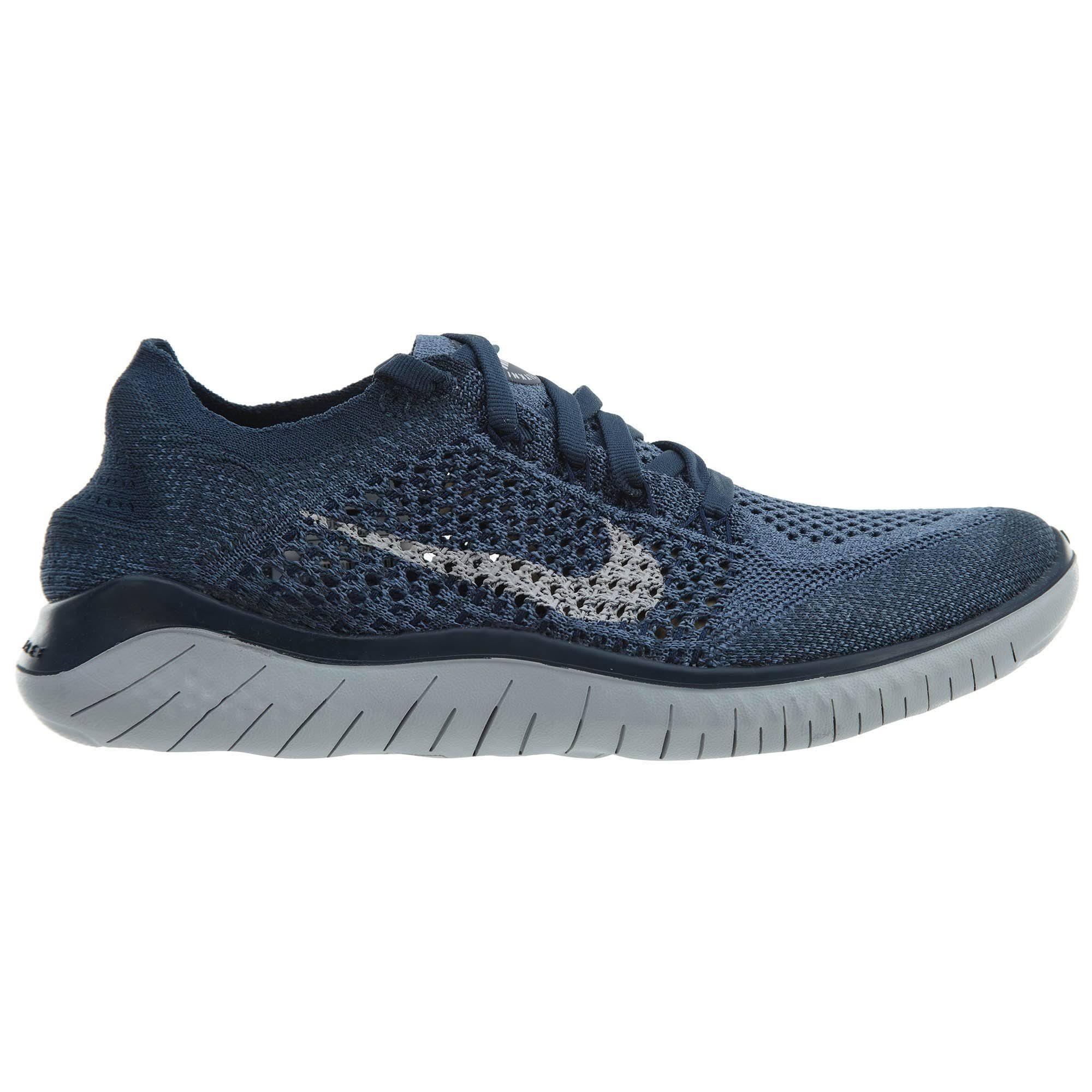 Zapatillas Nike Mujer De Pure 2018 Para Blue Running Flyknit Squadron Free Platinum Rn 1Xq8IX