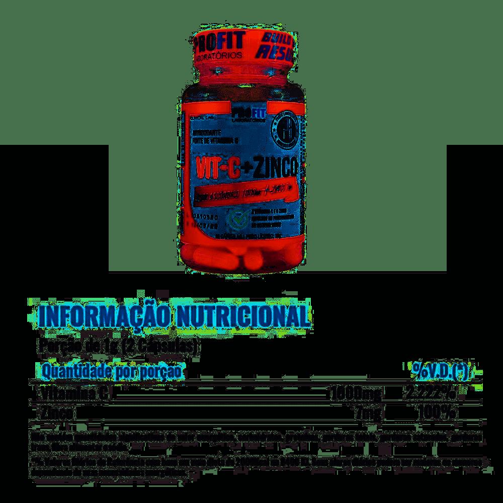 ProFit Laboratórios Vitamina C 1000mg + Zinco 7mg