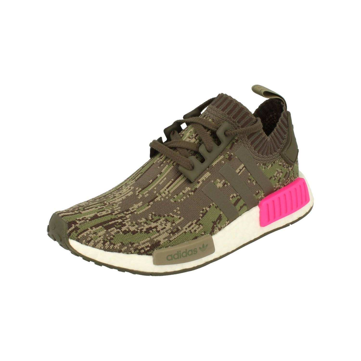 (4 (Adults')) Adidas Originals Nmd_R1 Pk Mens Running Trainers Sneakers Shoes Prime Knit