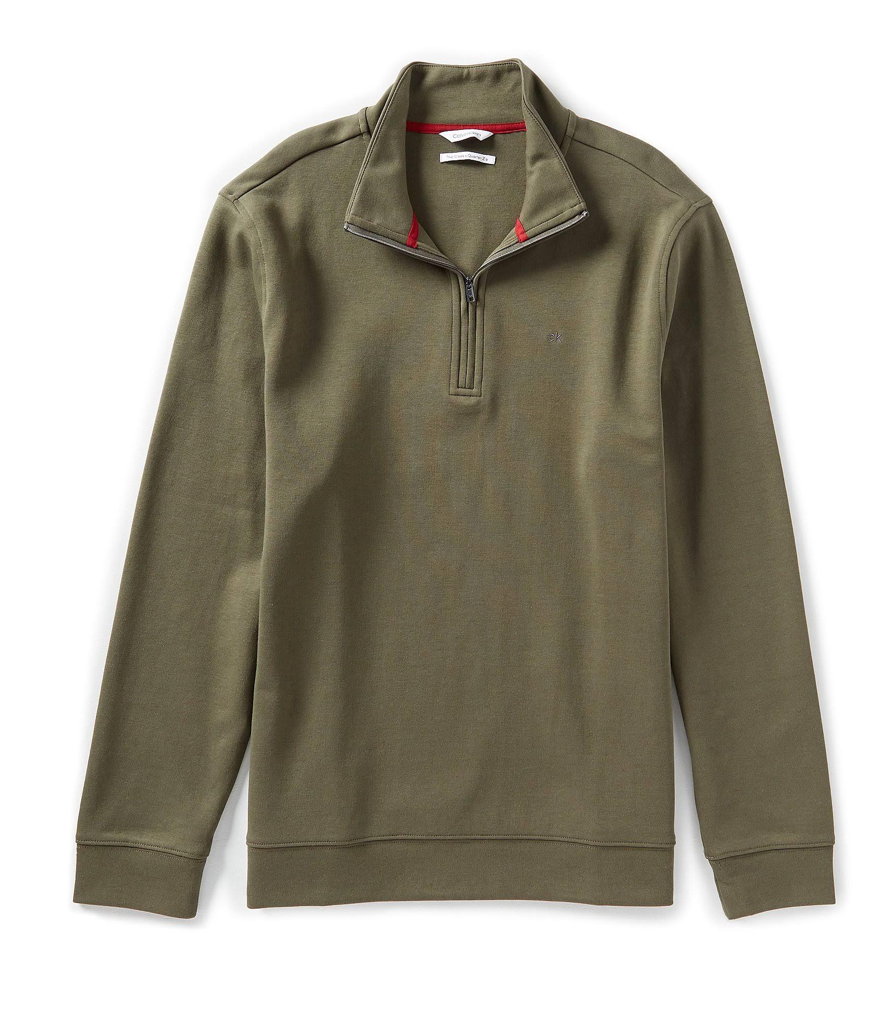 Männer Zip Sweater Calvin Klein Classic Für Quarter w6YwTzxq