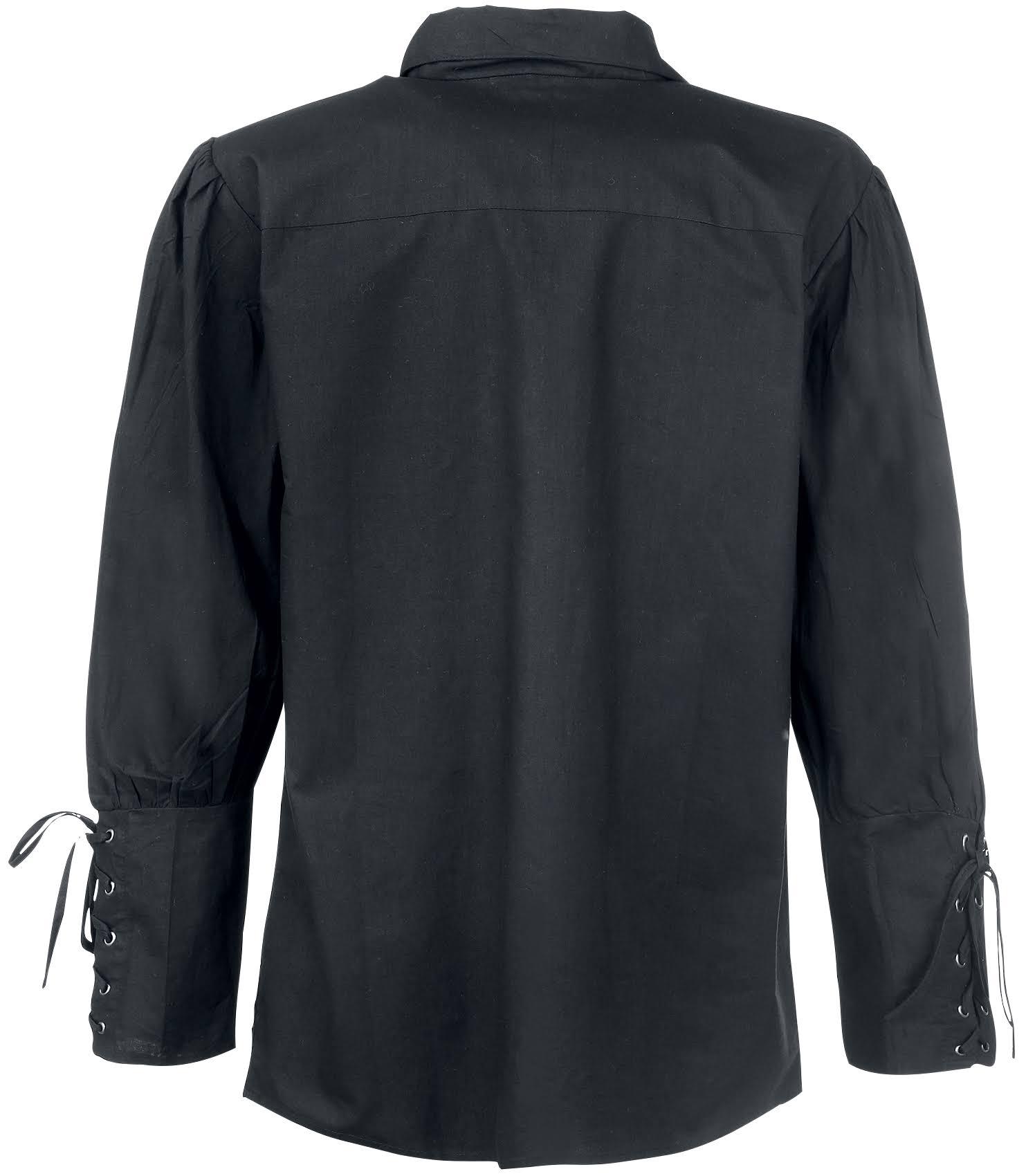 Herren Shirt Für Schwarz Gothic Mittelalterliches Geschnürt nPq1wvBxU
