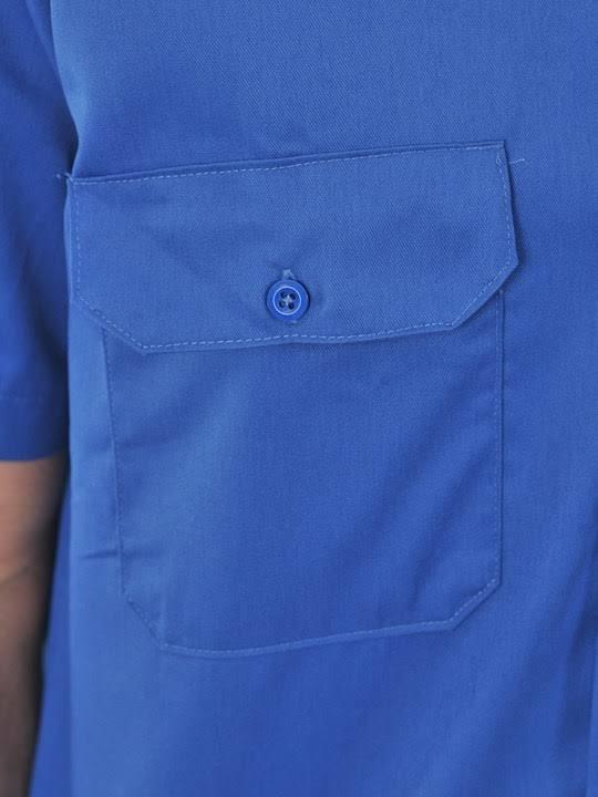 Camisa Manga Azul 1574 Corta Para Dickies 2xl Trabajo Real De Hombres rHqTr
