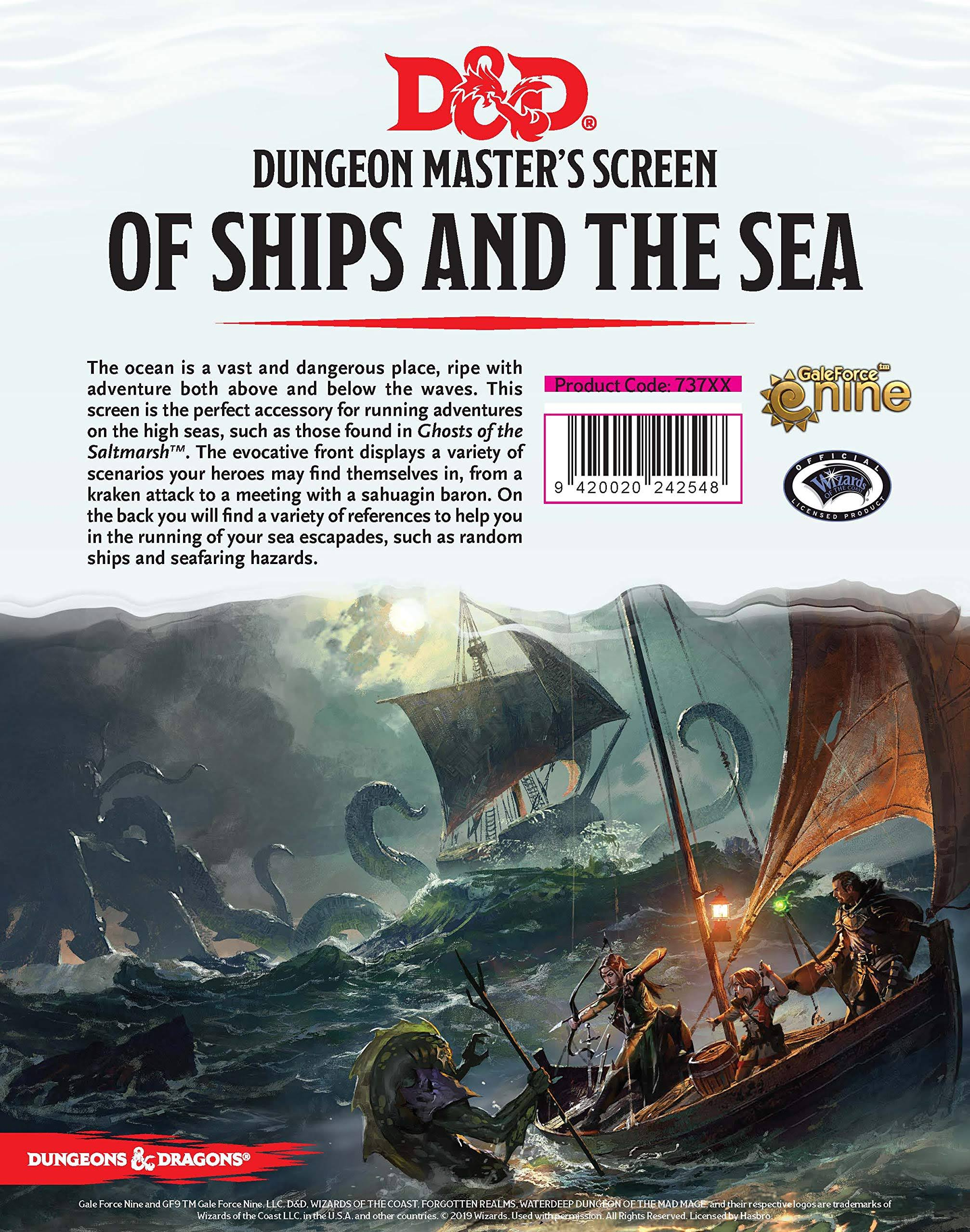 Of Ships and Of Sea: DnD DM Screen -  Gale force Nine LLC