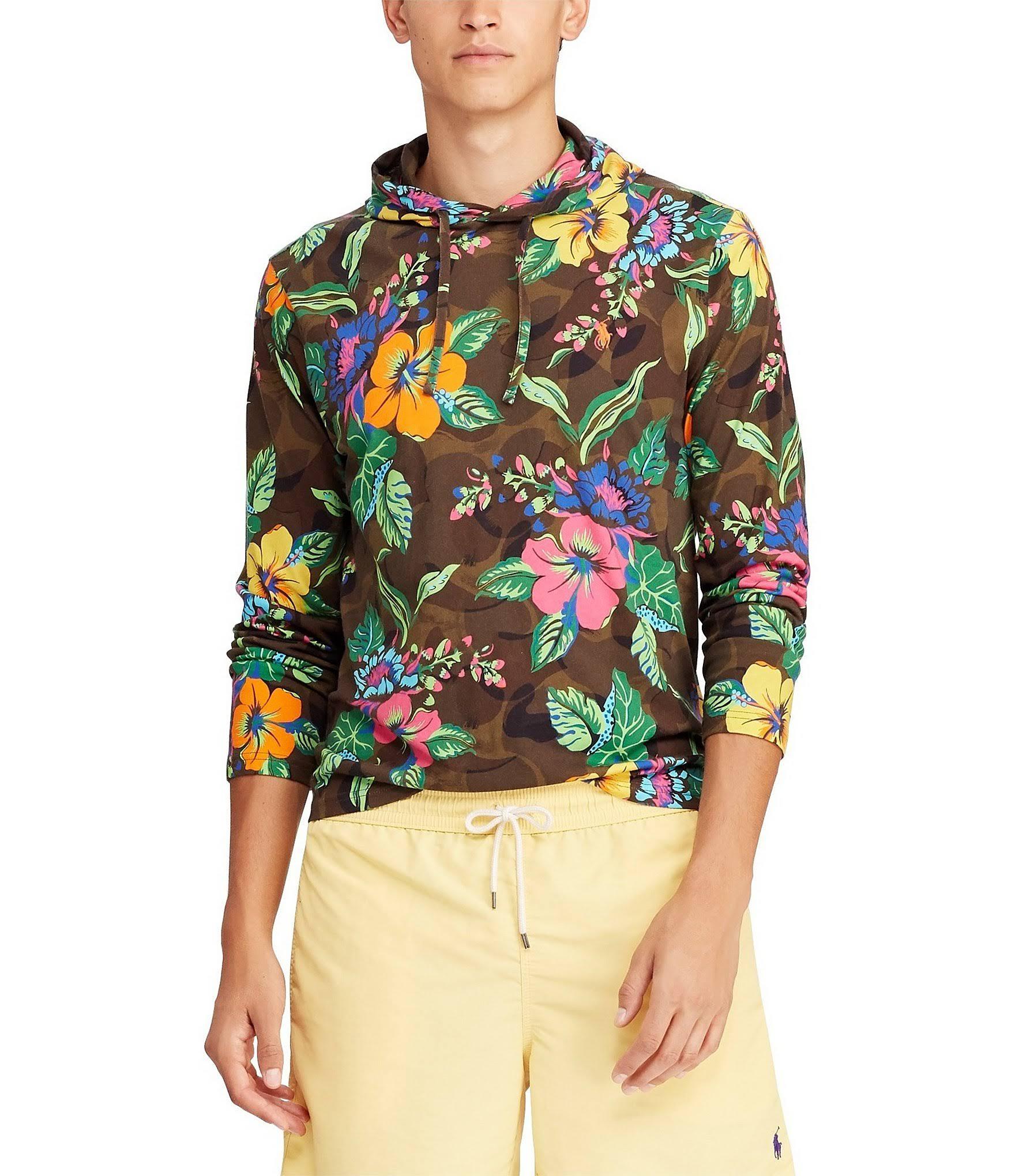 Lauren Manga M Larga Tropical Camiseta Capucha Floral Con Ralph De Surplus Polo XPqxHn5w4