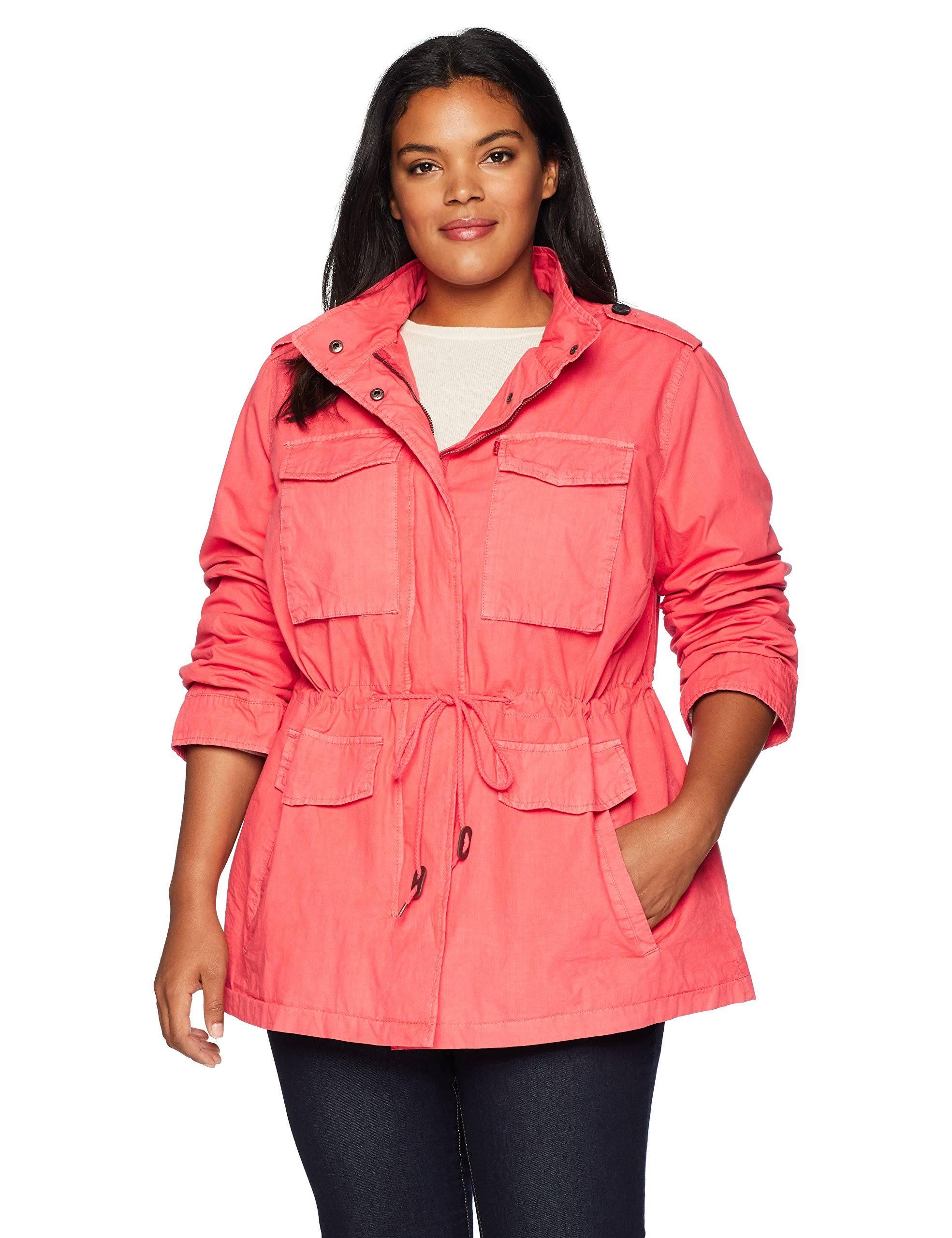 Jacket Orange Levi's Size Cotton Utility Plus 2x wAAZqUI