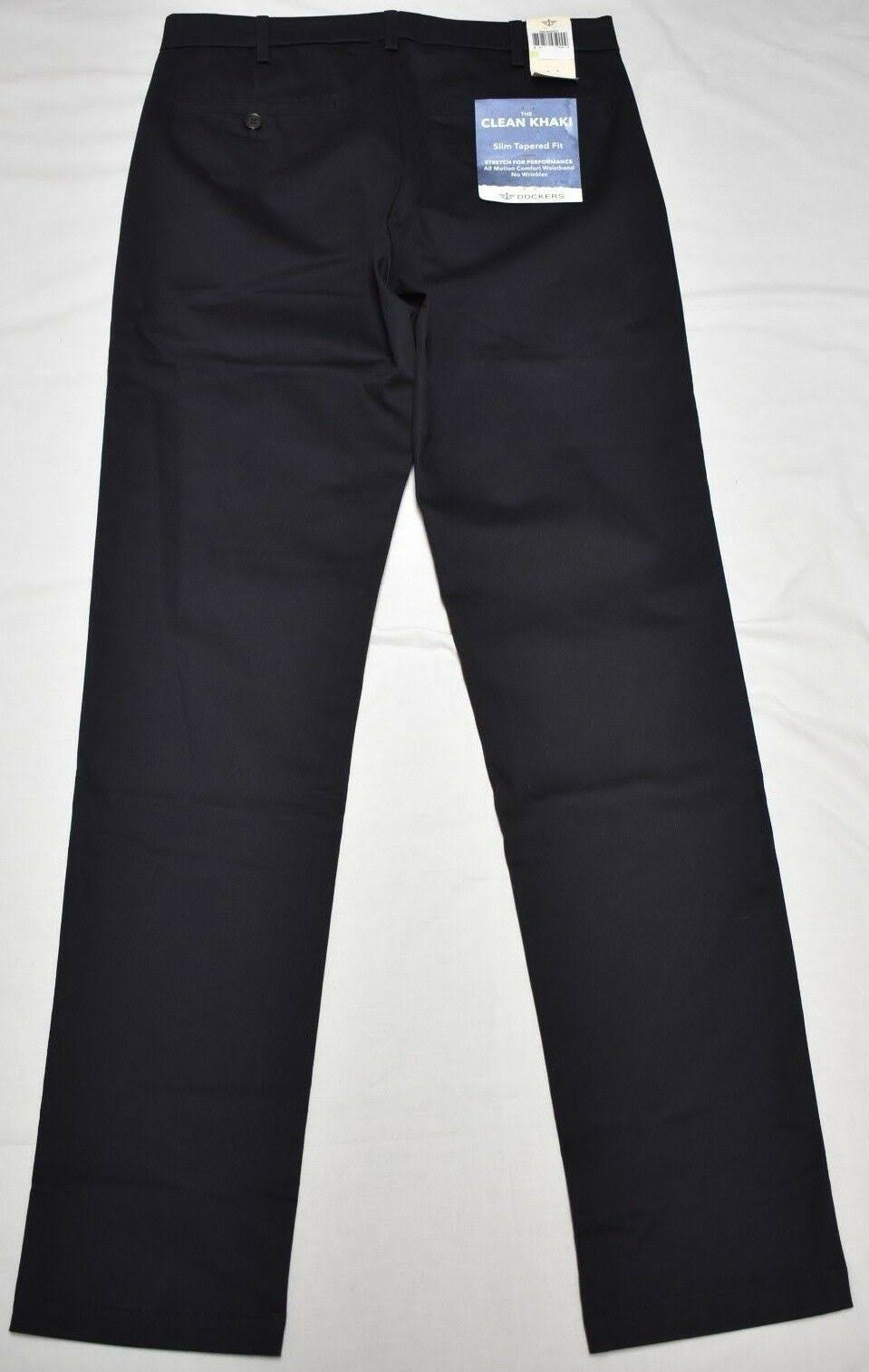 Hombres Fit 28x28 Khaki Twill Stretch Navy Tapered Pantalones Slim P299 Clean Dockers Para a8wnEBqE