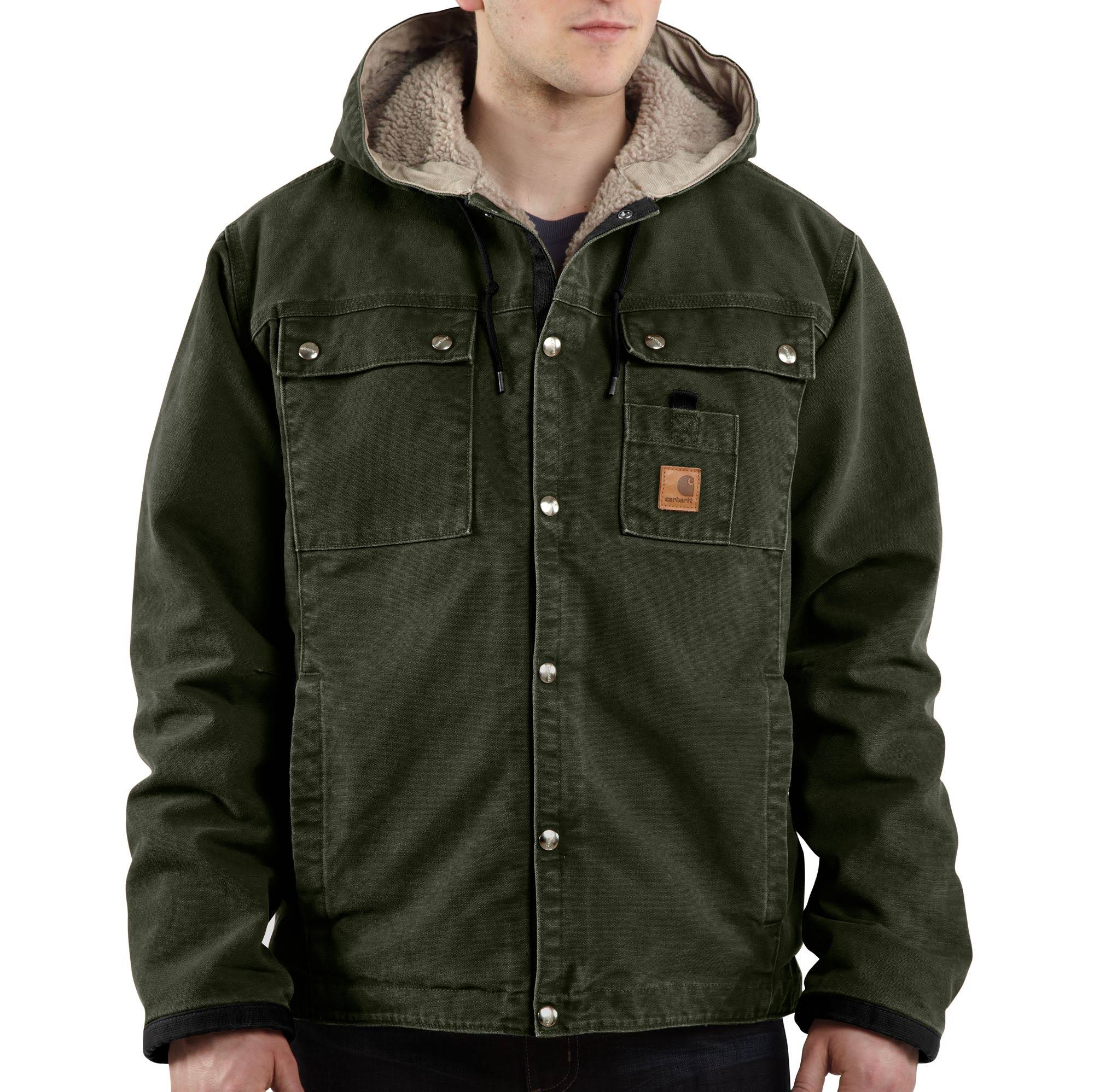 Green Carhartt Jacke Moss Regular Gefütterte Sandstone J284 Mens 4xl Sherpa gvwqa7n1Wg
