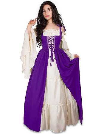 Dress Cream Mythic Over Irish Renaissance Medieval Chemise Costume Set amp; 1Uqqw6XOn