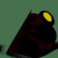Przyłbica - flex w - miś - otwierana